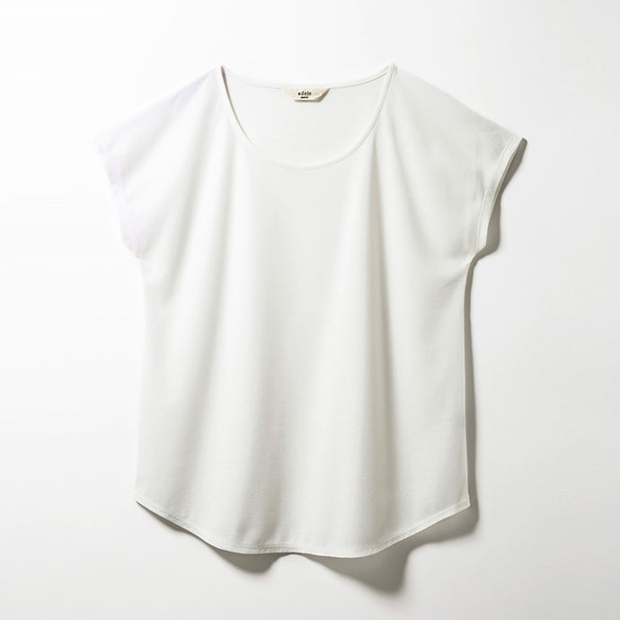Scoop Neck T-shirts (Off-white)