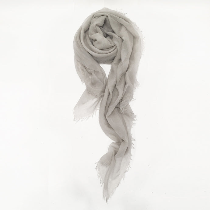 Cashmere Stole (Medium Gray)
