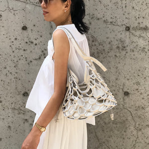 2-WAY MESH BAG (Cream)