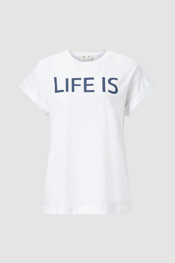 Statement-Shirt LIFE IS BEAUTIFUL