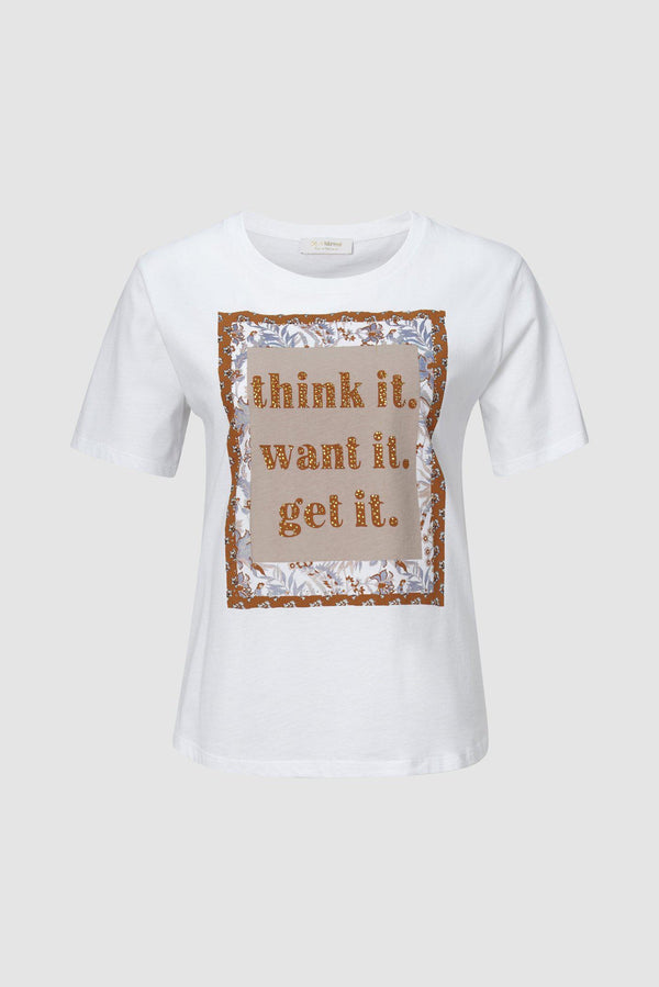 "Rich & Royal - Statement-Shirt ""think it. want it. get it."" - Büste"