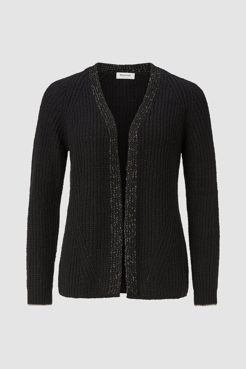 Rich & Royal - Cardigan mit Lurex-Detail - Büste