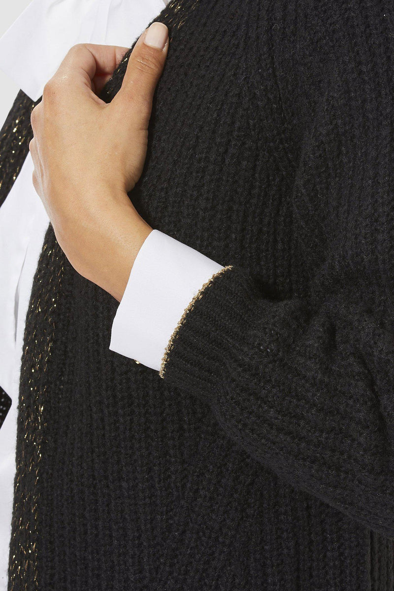 Rich & Royal - Cardigan mit Lurex-Detail - Detailansicht