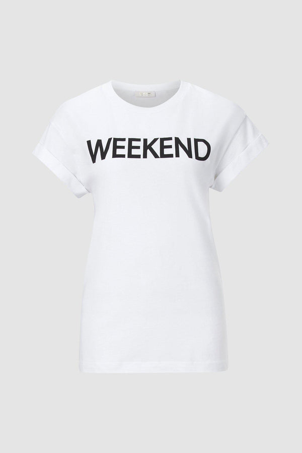 Rich & Royal - T-Shirt mit Weekend Everyday Print - Büste