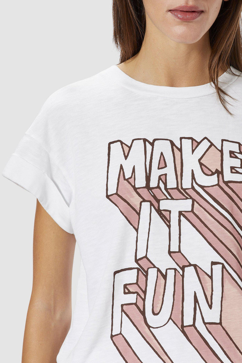 Rich & Royal - T-Shirt MAKE IT FUN  - Detailansicht