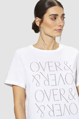 "Rich & Royal - T-Shirt ""OVER & OVER"" - Detailansicht"