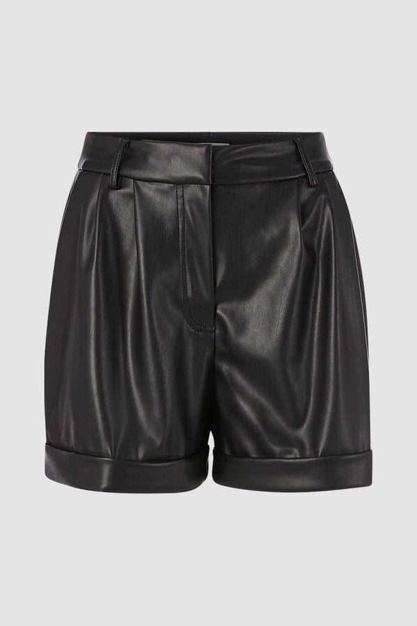 Shorts aus Kunstleder-D-Hose kurz-Rich & Royal