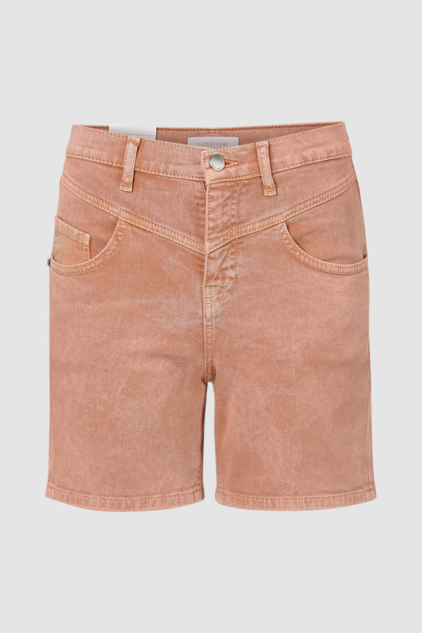 Jeans-Shorts mit Passe