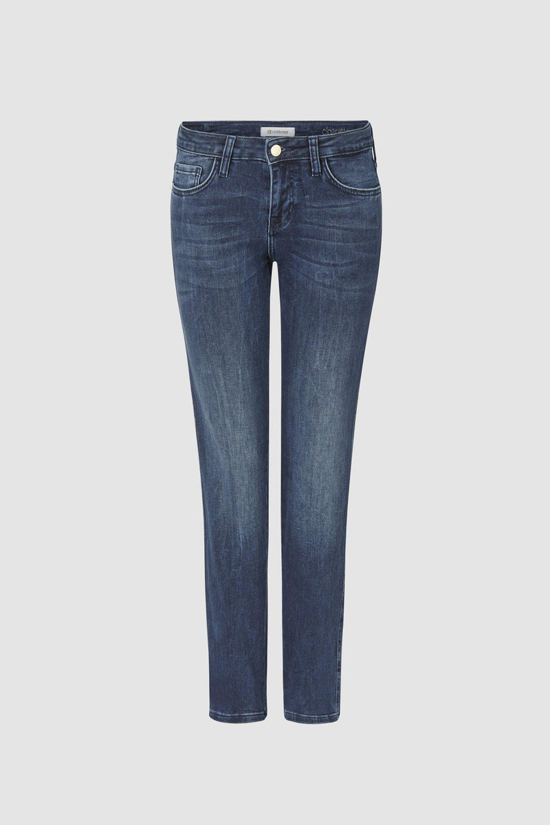 Cigaretten Jeans in Satin-Stretch