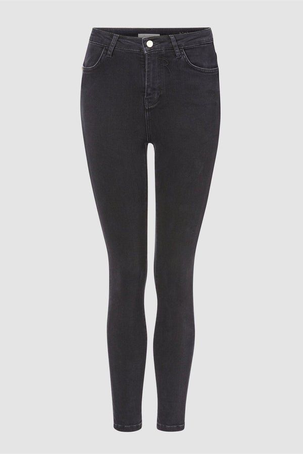 High-Waist Jeans Black Satin-Collection-Rich & Royal