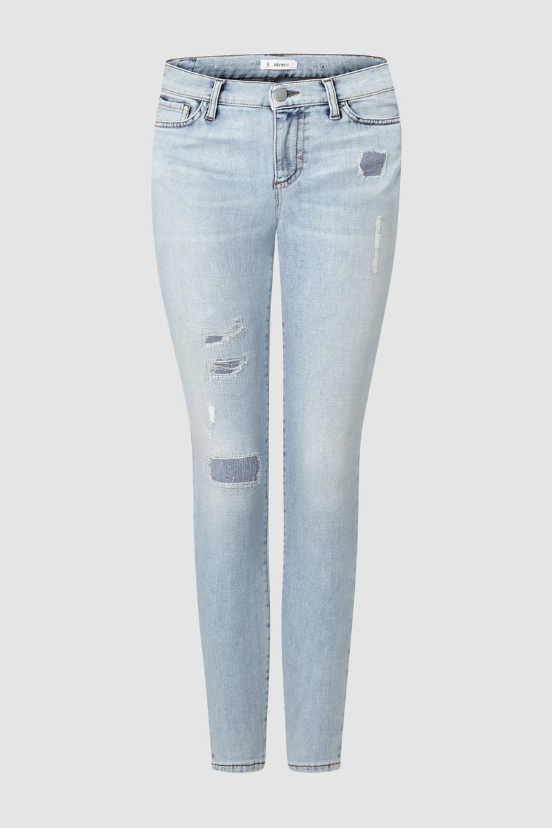 Midi-Jeans im Used Look