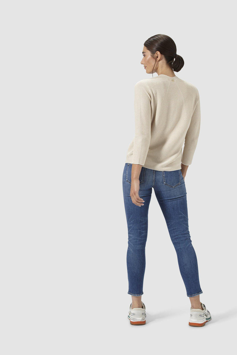 Rich & Royal - Midi-Aged Blue-Jeans im Used-Look - Modelbild hinten