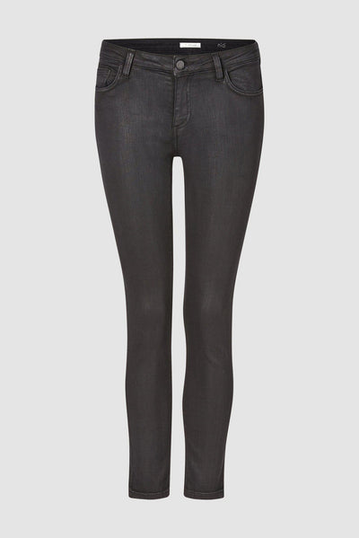 Midi Coated Denim Jeans