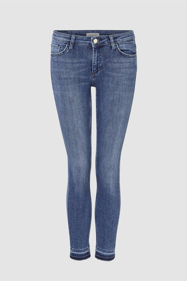 Midi Jeans in Satin-Stretch