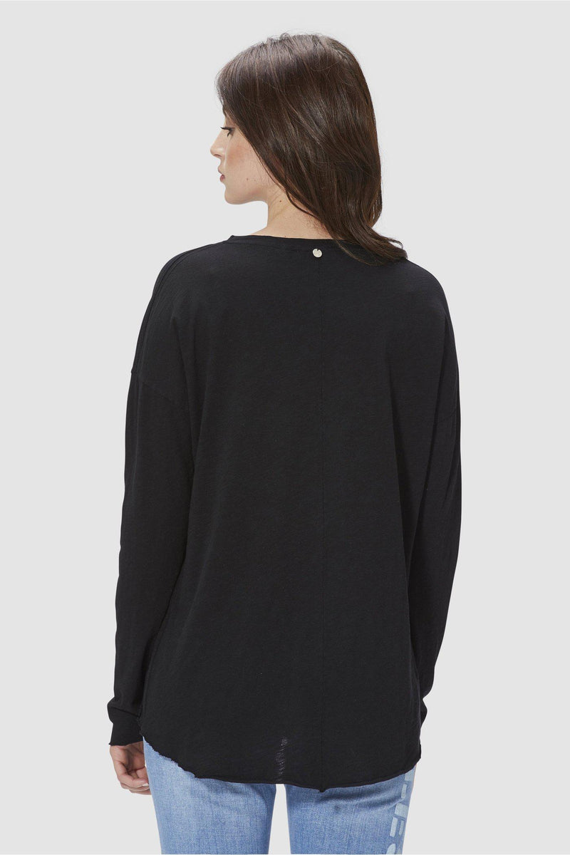 Oversize Longsleeve in Slub-Qualität-D-Basic Longsleeve-Rich & Royal