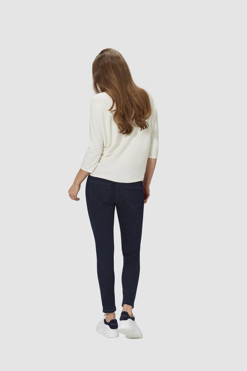 Midi Jeans in dunkler Waschung