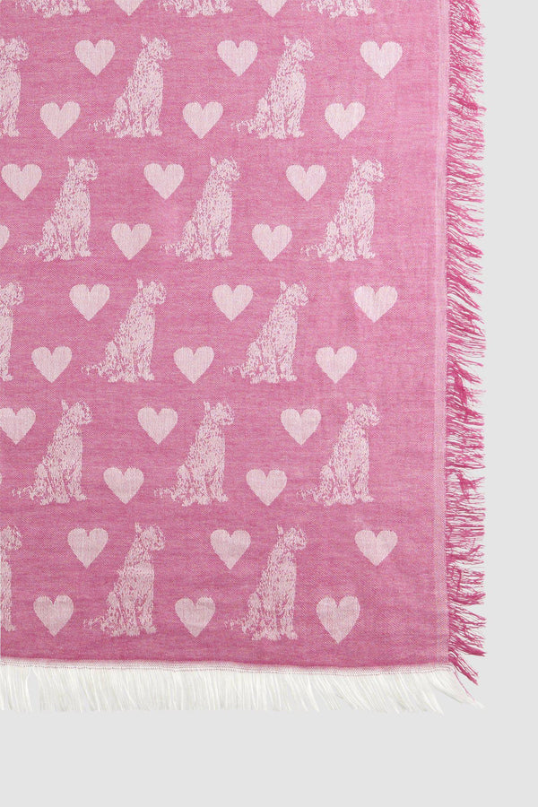 Jacquard-Webschal mit Animal-Muster