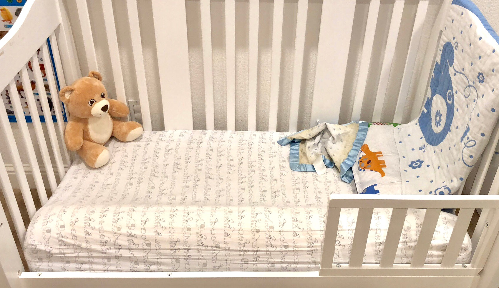 Crib with bed bumper