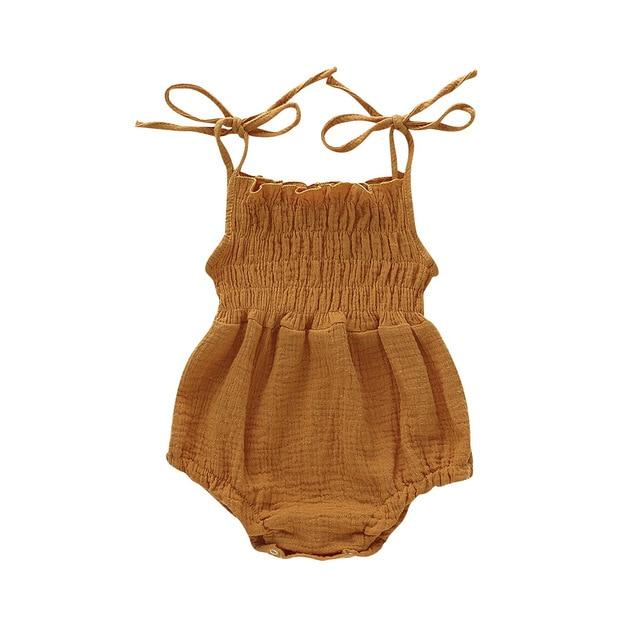 Alex + Nova Althea Summer Thin Strap Romper - Alex + Nova