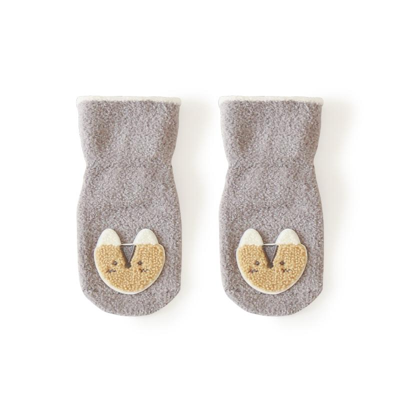 Alex + Nova Animal Patch Plush Winter Baby Socks - Alex + Nova
