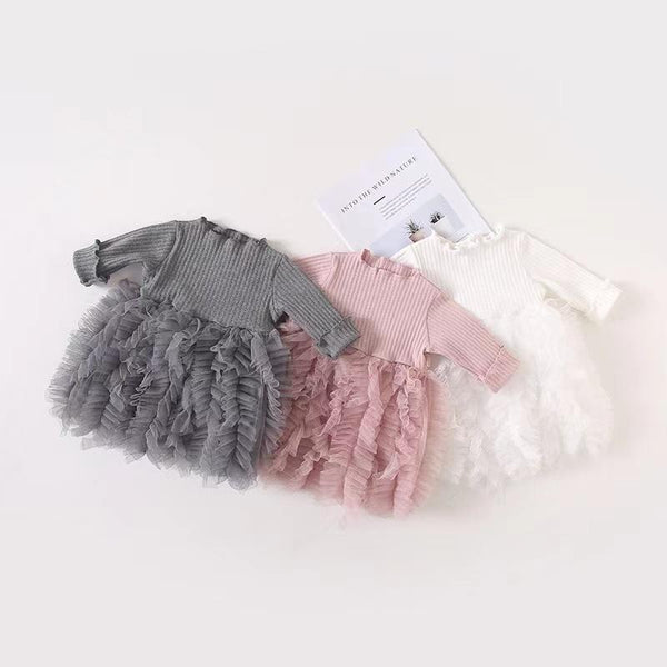 Alex + Nova Annie Bows Tulle Dress - Alex + Nova