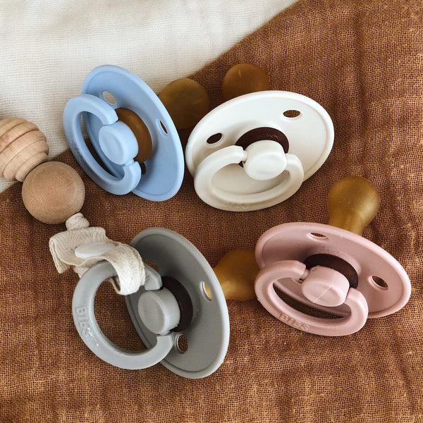Mushie Bibs Pacifier - Alex + Nova