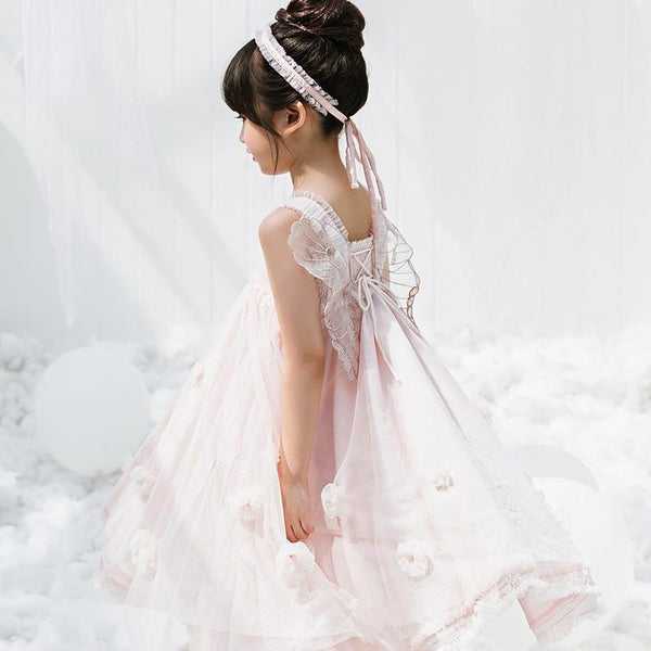 Alex + Nova Butterfly Fairy Flowers Tulle Dress - Alex + Nova