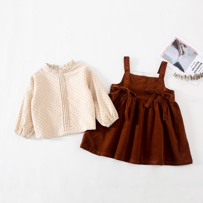 Alex + Nova Celine Corduroy 2-Piece Dress Set - Alex + Nova