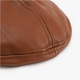 Alex + Nova Colin Leather Beret Hat - Alex + Nova