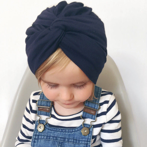 Alex + Nova Cross Button Turban Hat - Alex + Nova