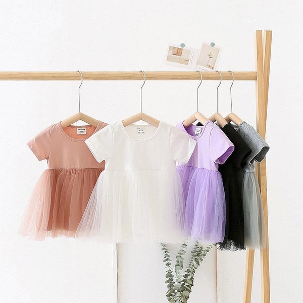 Alex + Nova Debra Candy Color Tulle Dress - Alex + Nova