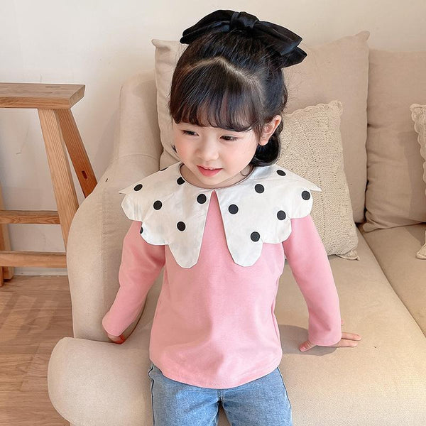 Alex + Nova Demia Polka Dots Collar Top - Alex + Nova