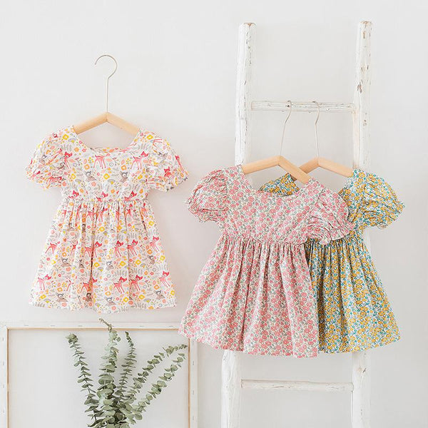 Alex + Nova Forest Floral Bambi Princess Dress - Alex + Nova