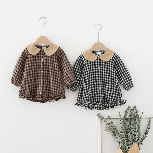Alex + Nova Donice Plaid Ruffle Dress Top - Alex + Nova