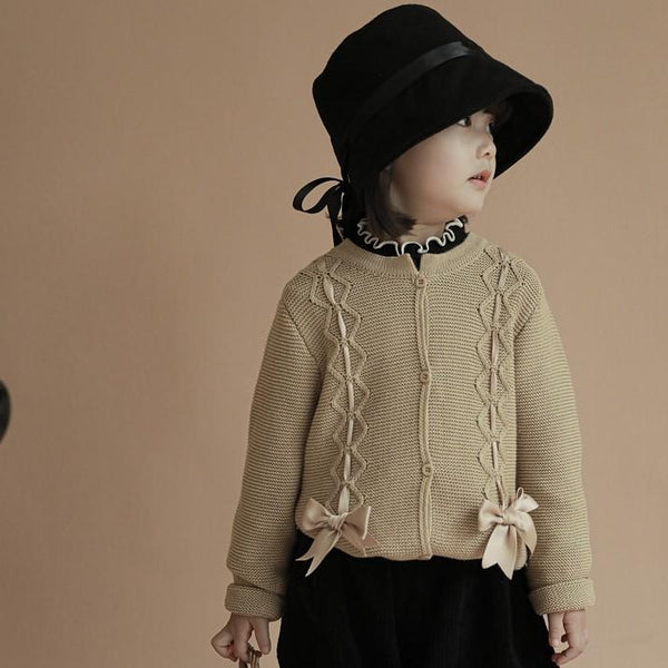 Alex + Nova Ella Bow Knitted Cardigan - Alex + Nova