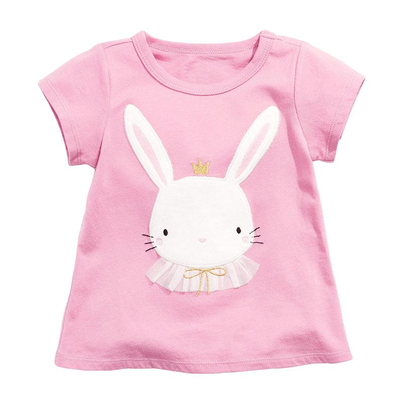 Alex + Nova Embroidered Crown Bunny Tee - Alex + Nova
