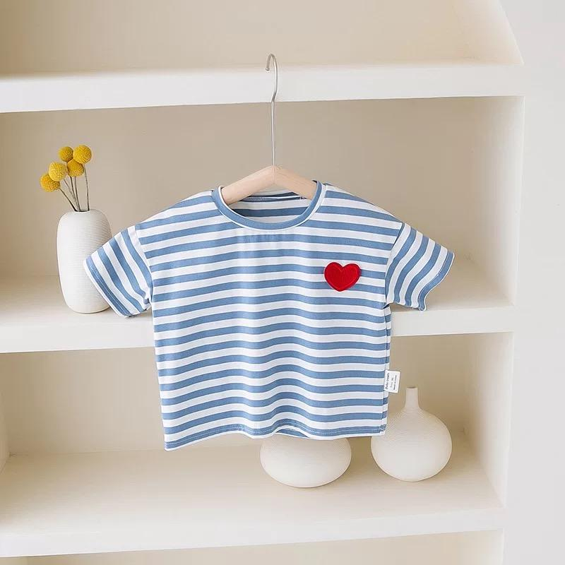 Alex + Nova Mini Heart Striped Sailor Tee - Alex + Nova