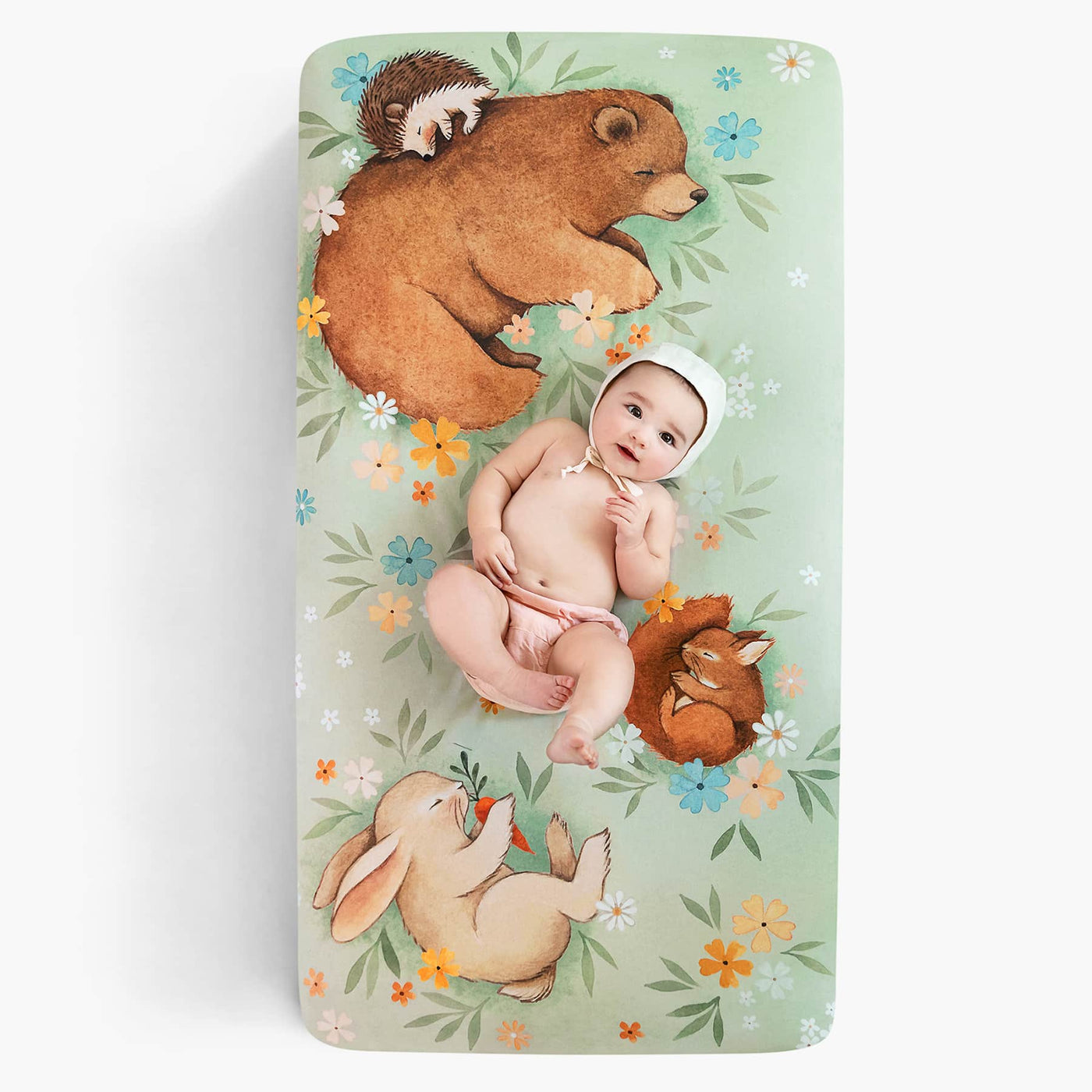 Rookie Humans Enchanted Meadow Crib Sheet - Alex + Nova
