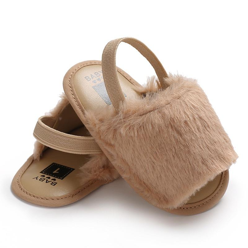 Alex + Nova Fluffy Summer First Walker Baby Sandals - Alex + Nova