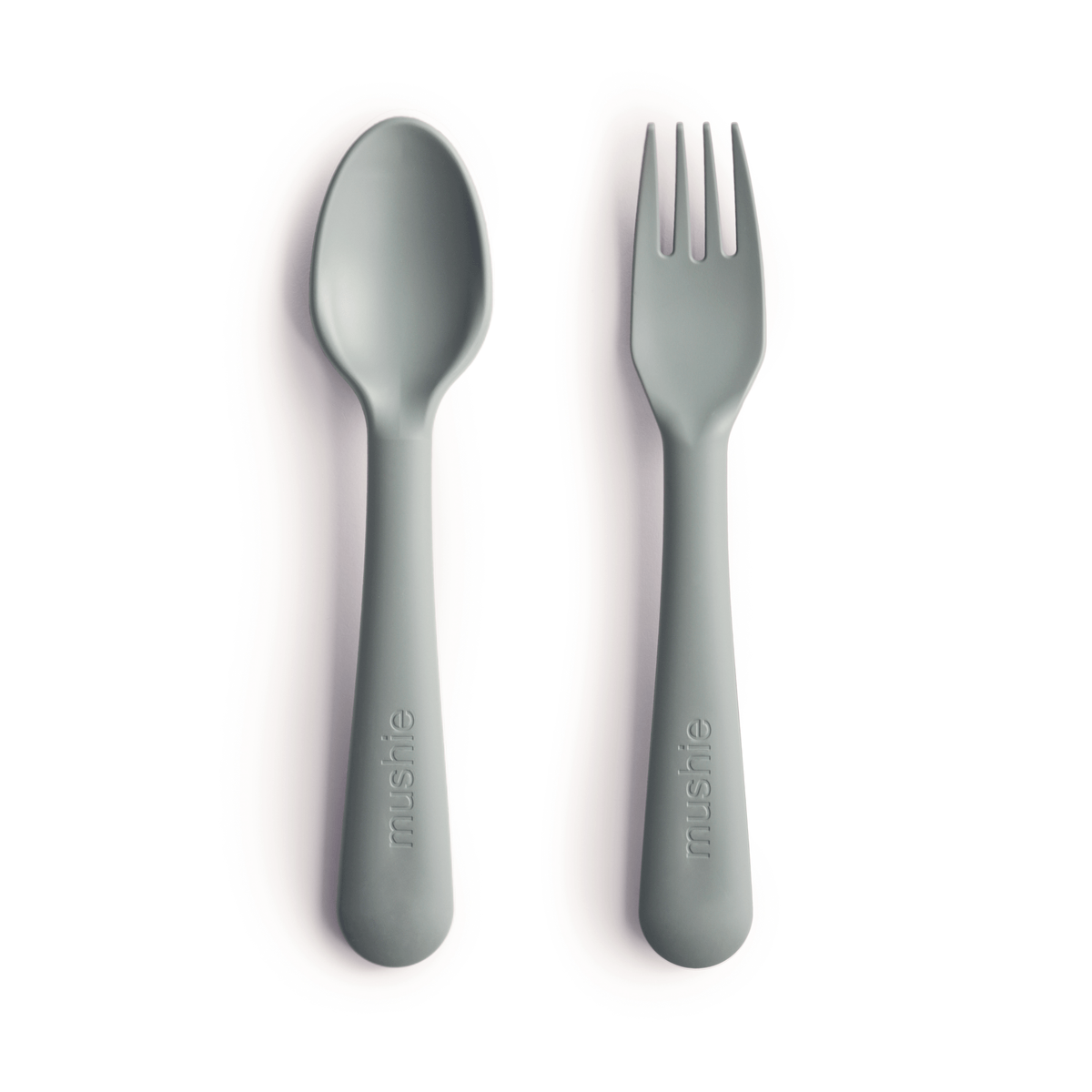Mushie Fork and Spoon Set - Alex + Nova