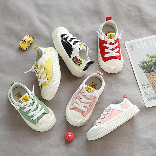 Alex + Nova Fruit Color Low Top Kids Canvas Shoes - Alex + Nova