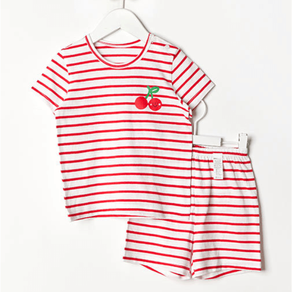 Alex + Nova Organic Cotton Fruit Stripes Summer Playset - Alex + Nova