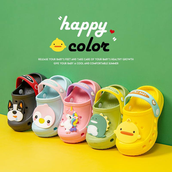 Alex + Nova Happy Animals Summer Kids Slipper Shoes - Alex + Nova