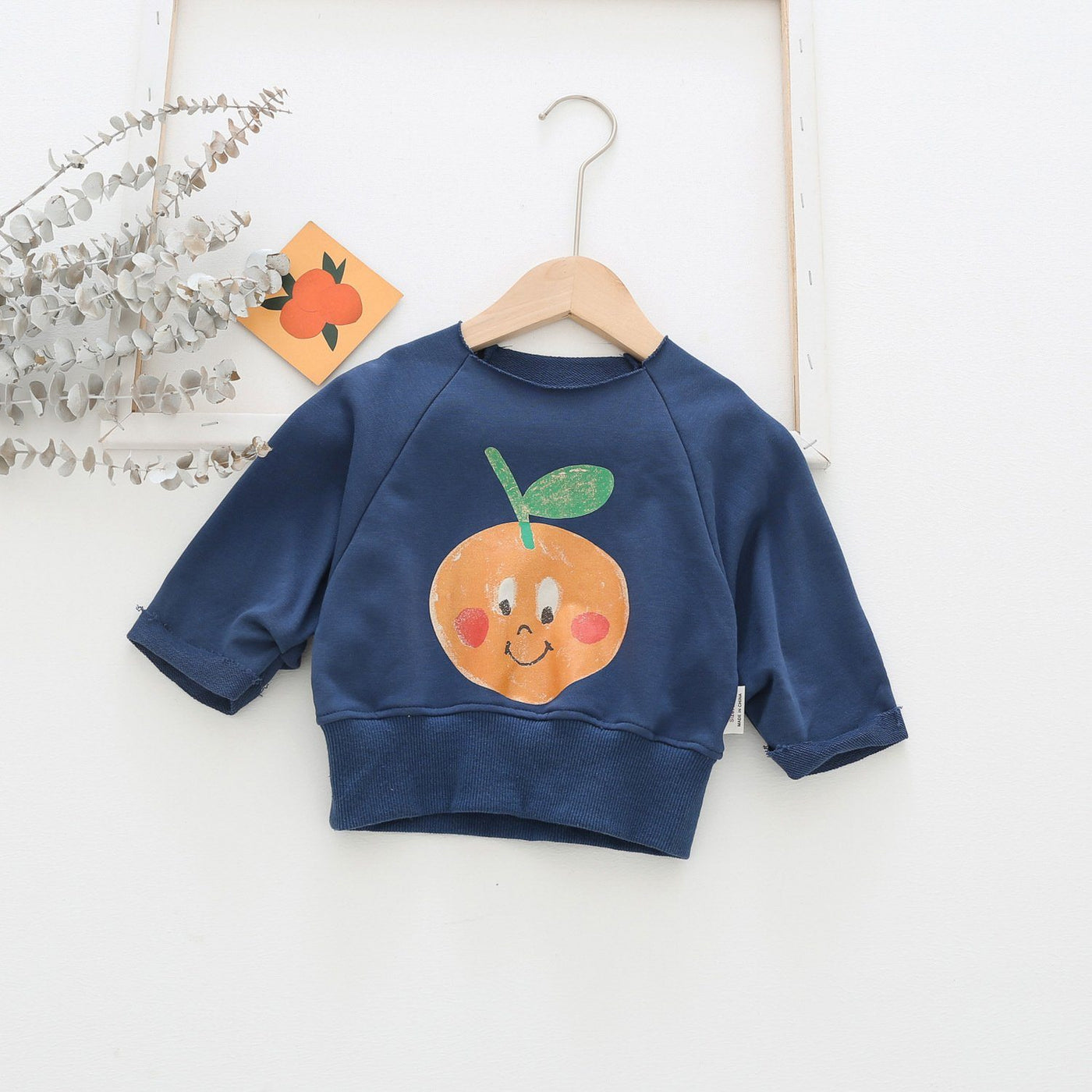 Alex + Nova Happy Orange Sweatshirt - Alex + Nova