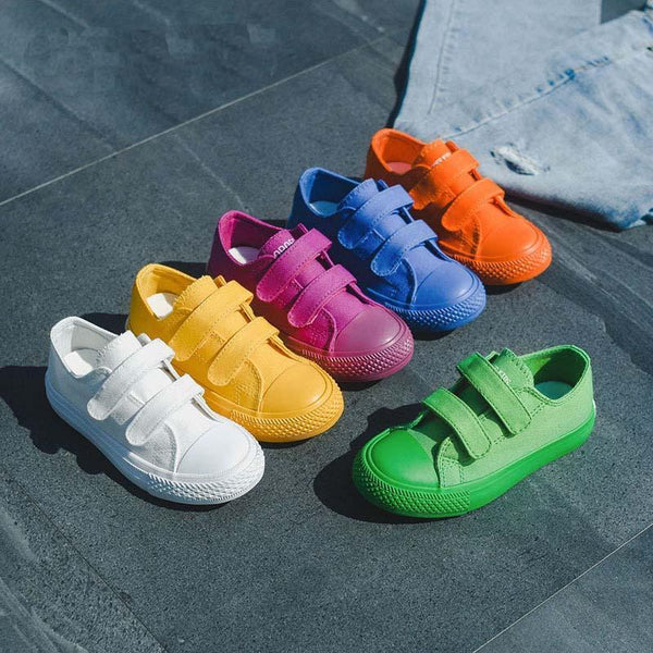 Alex + Nova Harley Colors Low Top Kids Canvas Shoes - Alex + Nova