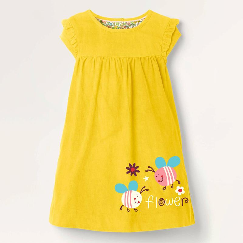 Alex + Nova Little Bees Flower Ruffled Dress - Alex + Nova