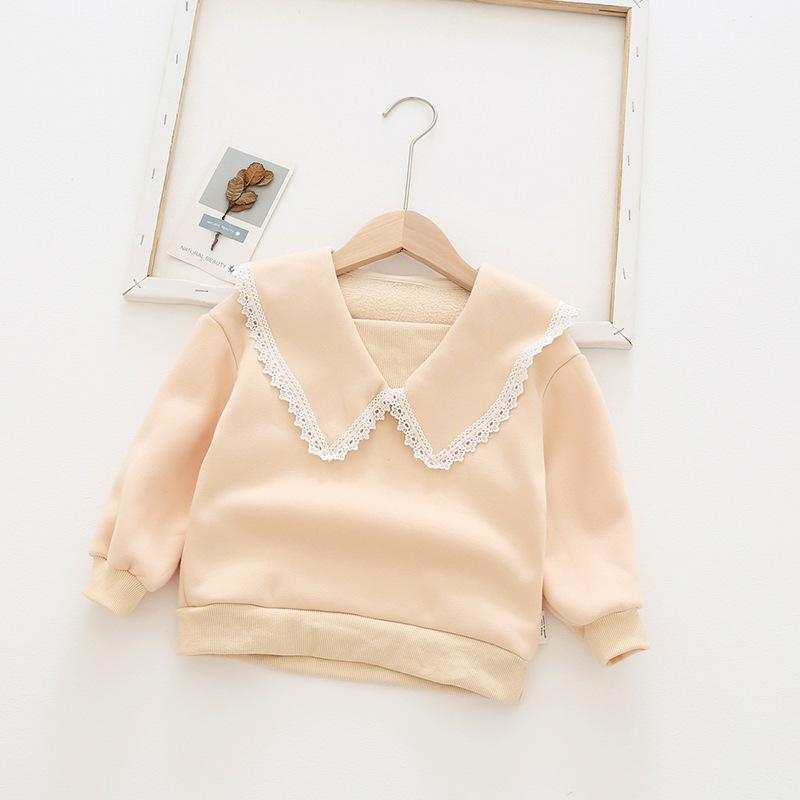Alex + Nova Lace Collar Plush Top - Alex + Nova