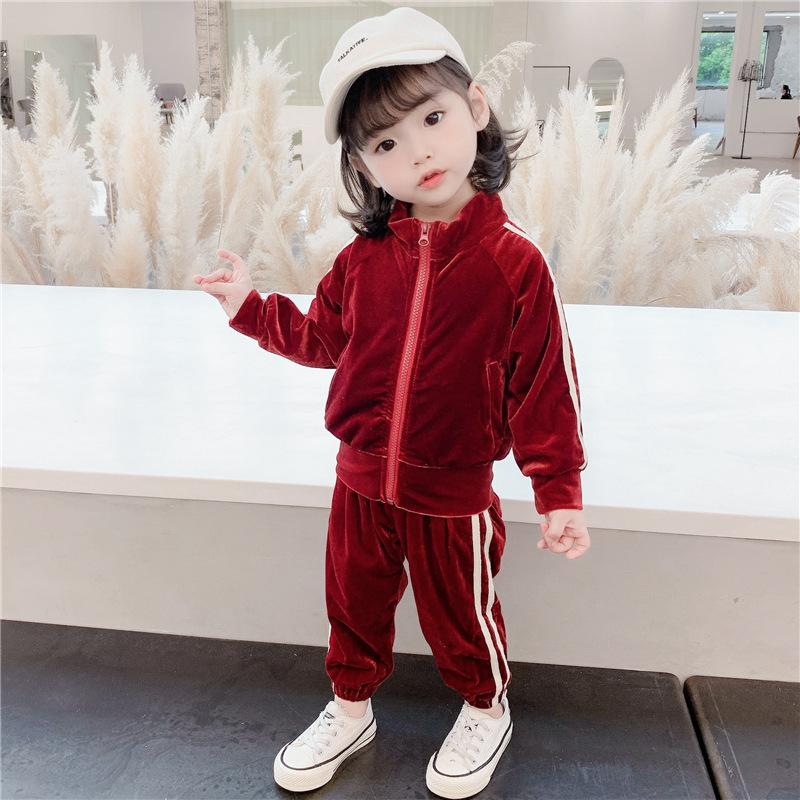 Alex + Nova Lewis Two-Piece Velvet Tracksuit Set - Alex + Nova