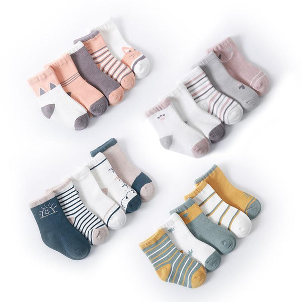 Alex + Nova Basic Color Toned Socks [Set of 5] - Alex + Nova