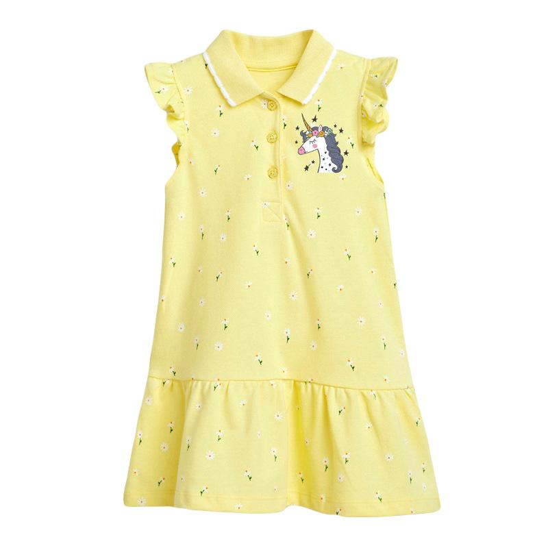 Alex + Nova Mini Floral Unicorn Polo Dress - Alex + Nova